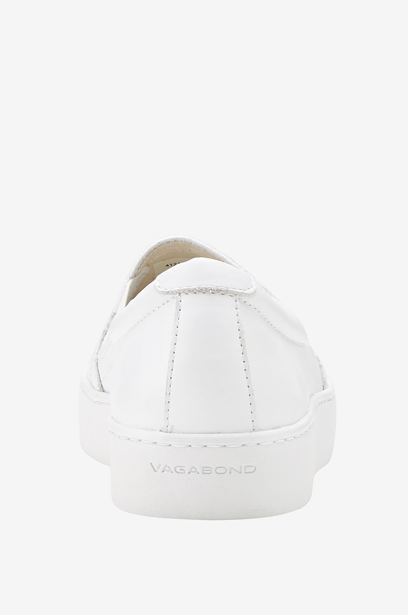 Vagabond Sneakers Zoe i vitt skinn Vit Dam Ellos.se