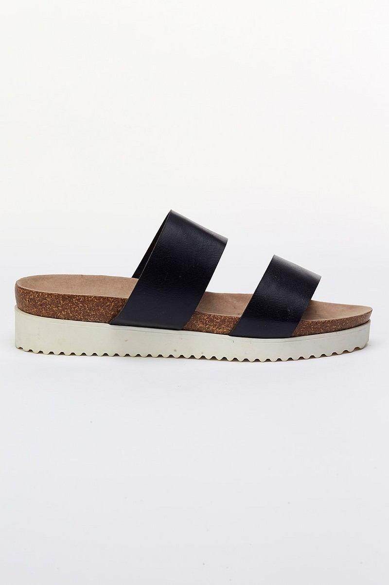 Ellos Shoes Sandal slip in Svart Dam Ellos.se