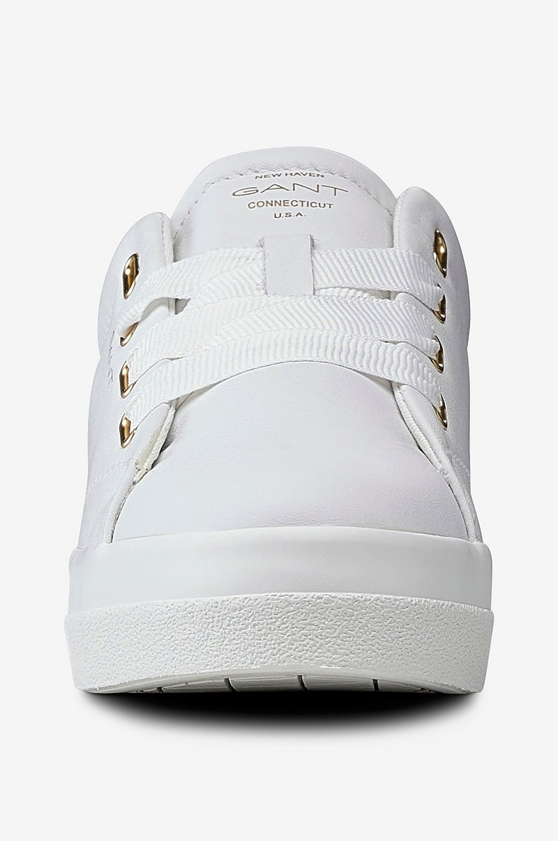 Gant Sneakers Aurora Low Lace i skinn Vit Dam Ellos.se