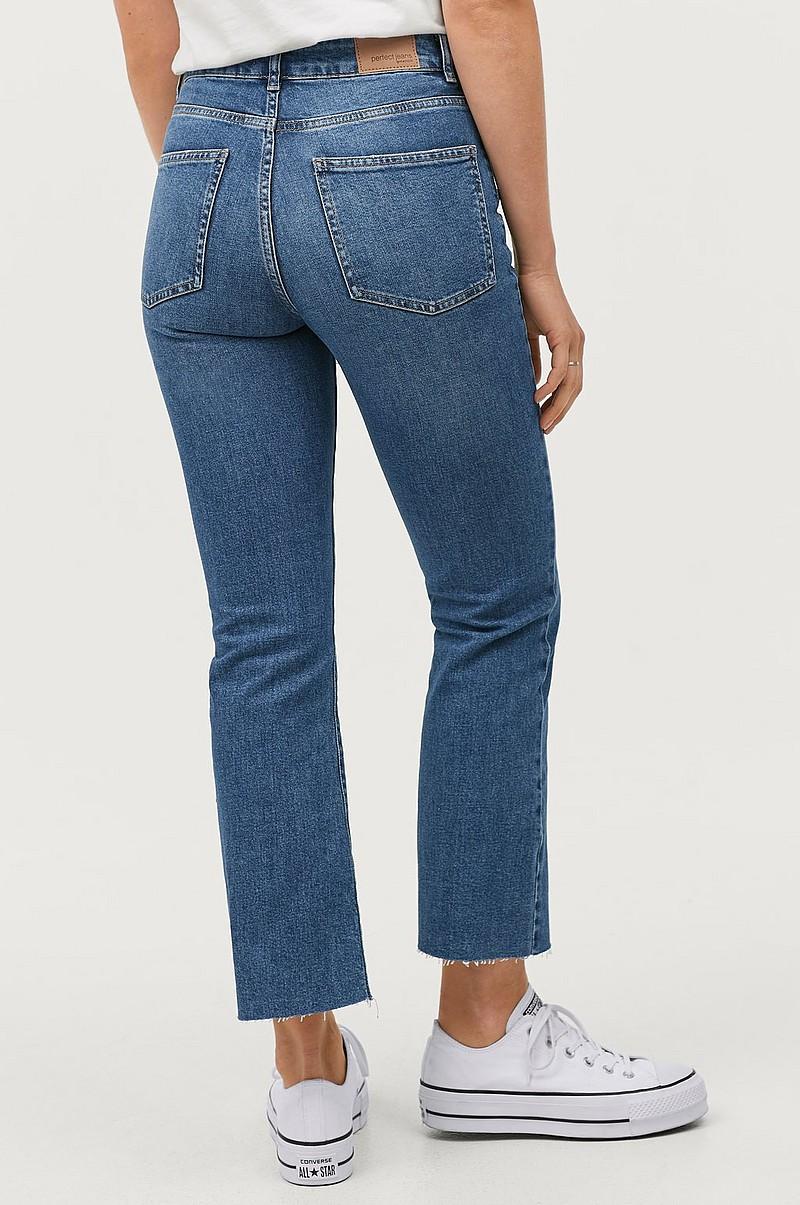Gina Tricot Jeans Kick Flare Blå Dame Ellos.no