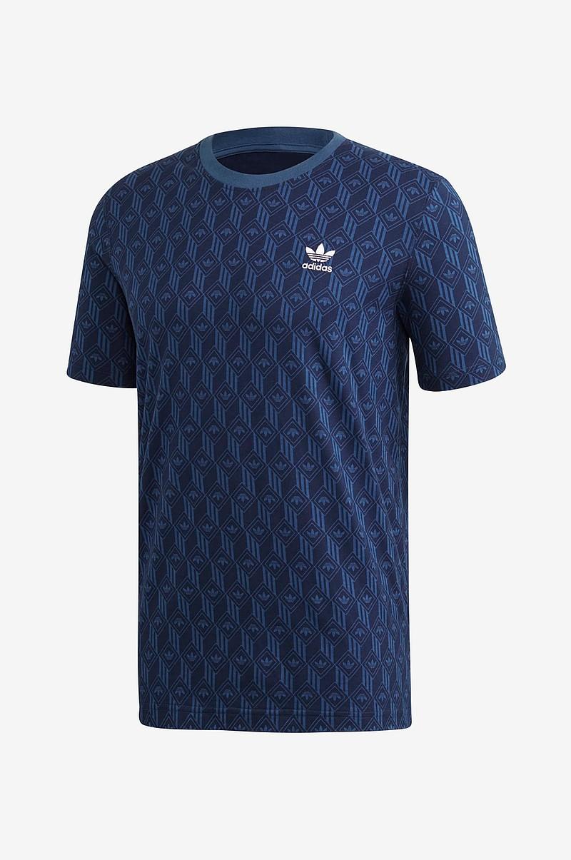 adidas Originals T shirt Mono Allover Print Tee Blå