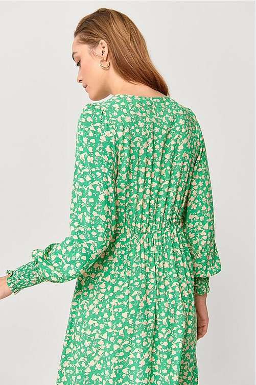 Ellos Plus collection Kjole Abba  - Grøn - Jerseykjoler