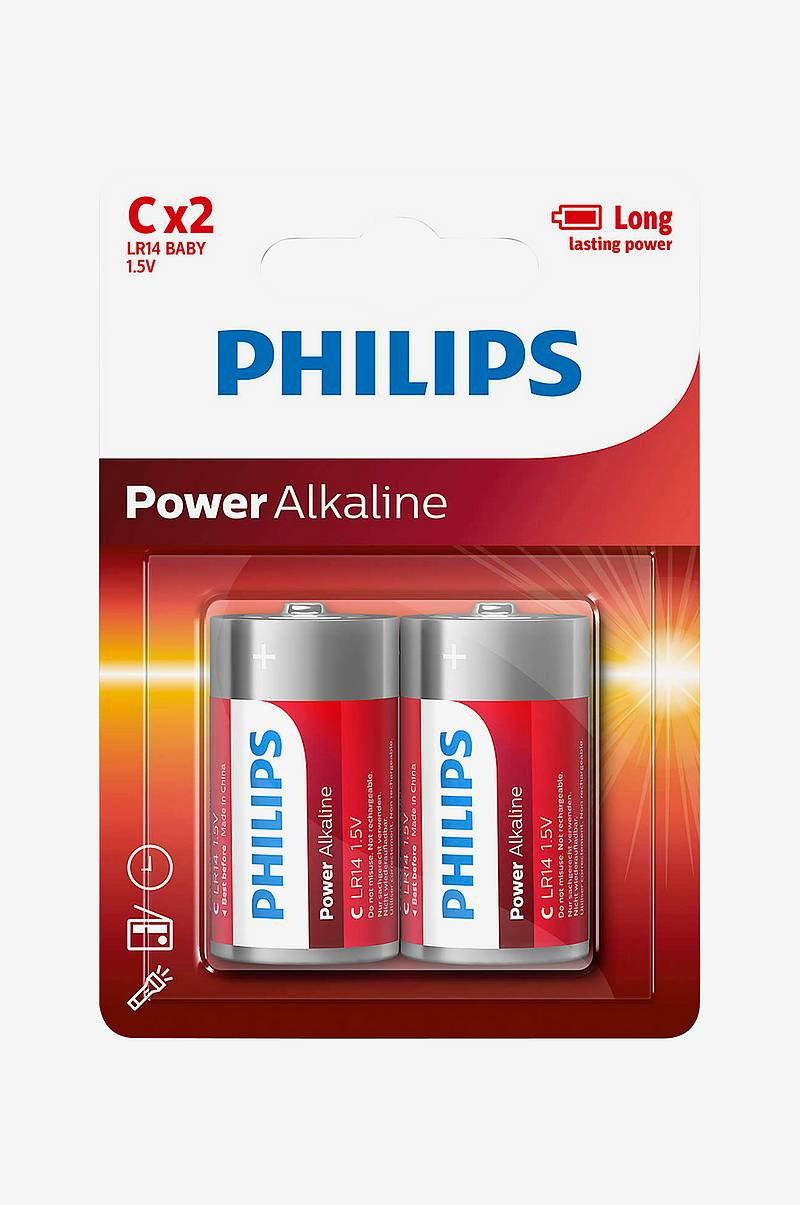 Power Alkaline C LR14 2-pk