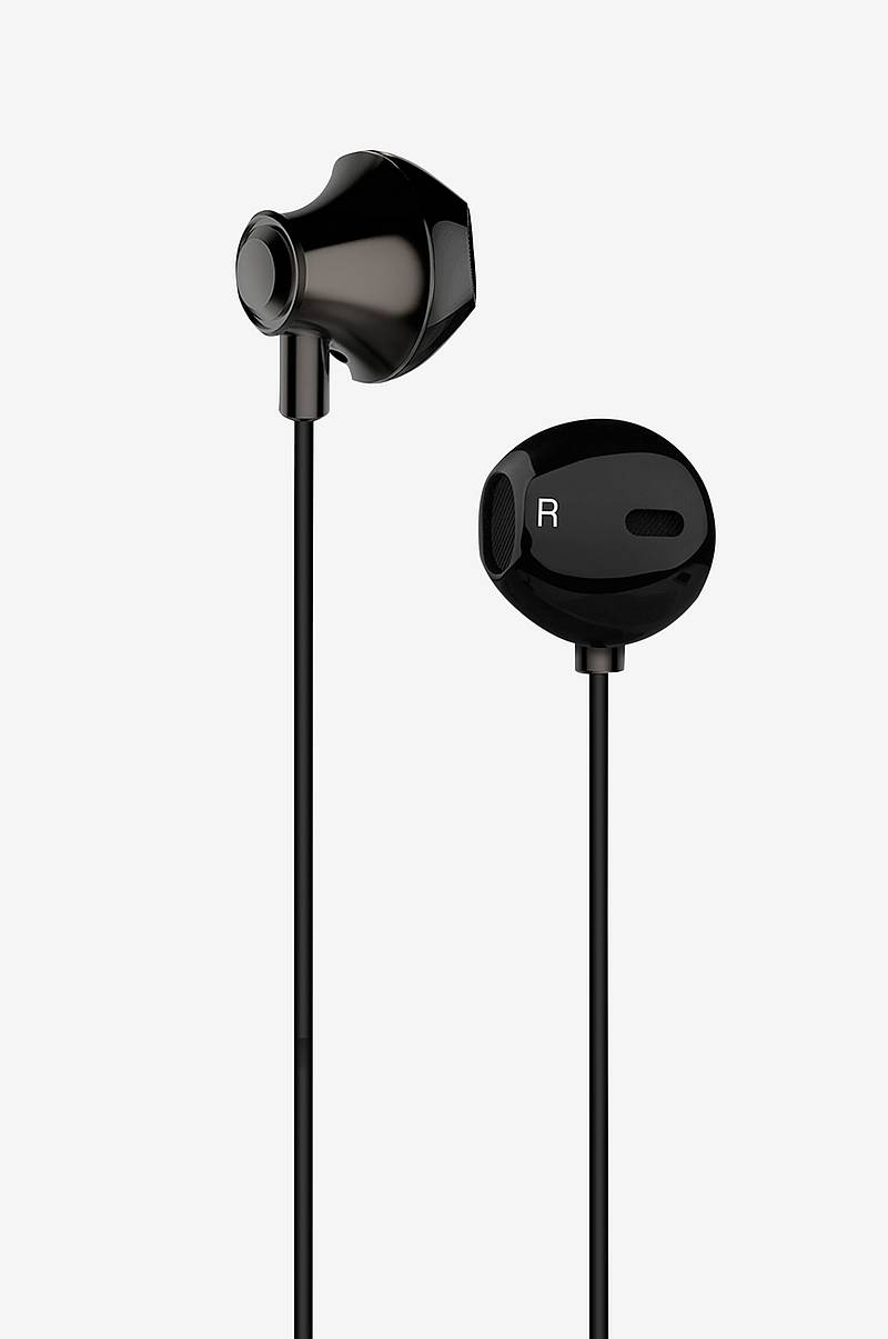 Headset Earpod Svart Metallic