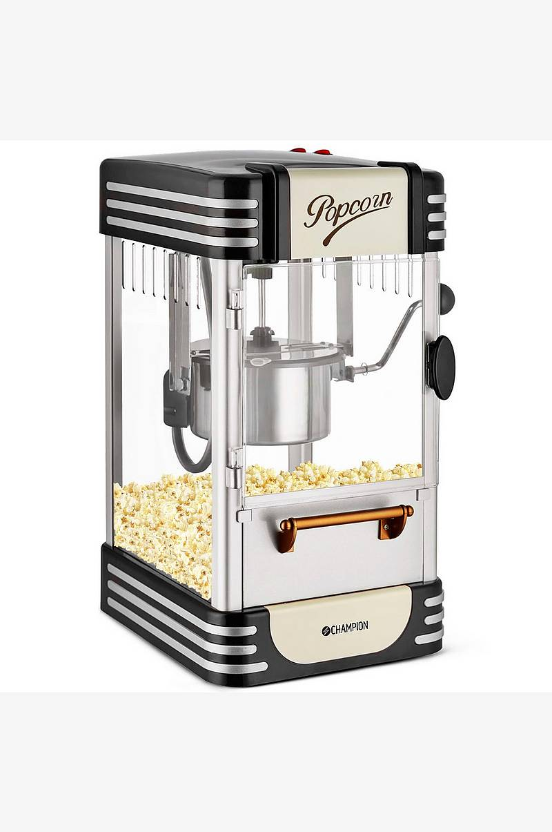Popcornmaskine Retro, Sort
