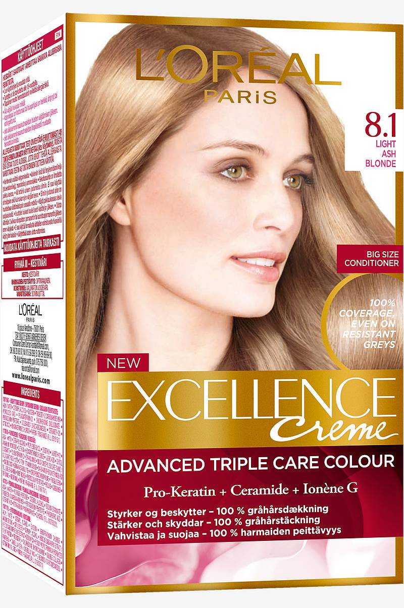 Excellence 8.1 Light Ash Blonde