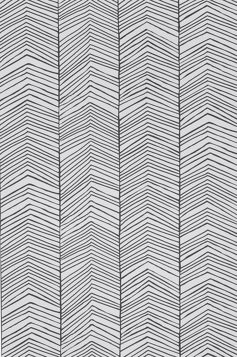 Tapet Herringbone Sort