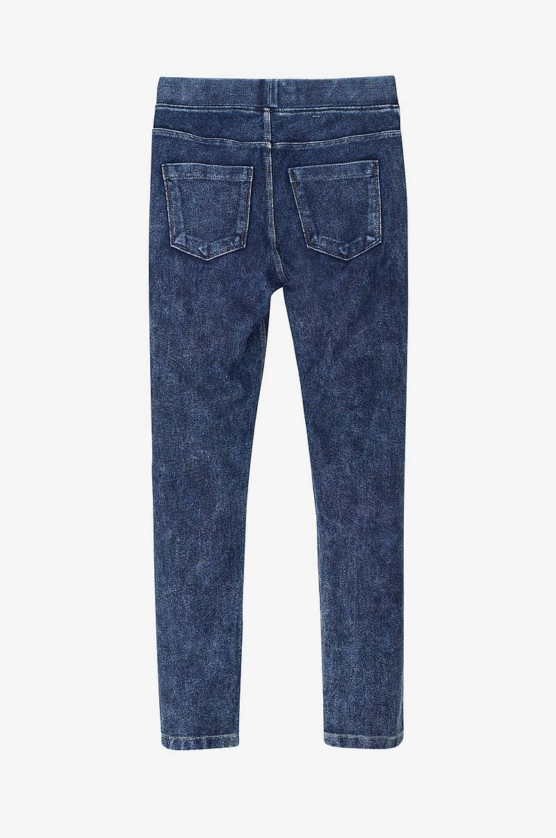 Treggings i jeanslook