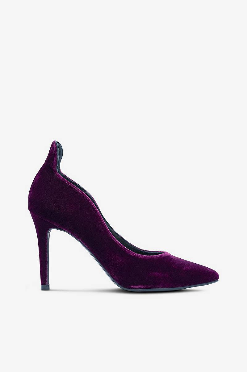 Velourpumps i elegant model