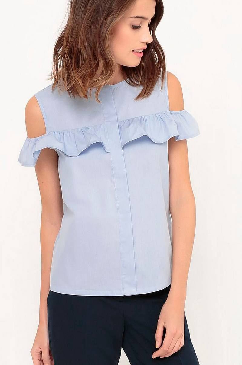 Cold shoulder-top