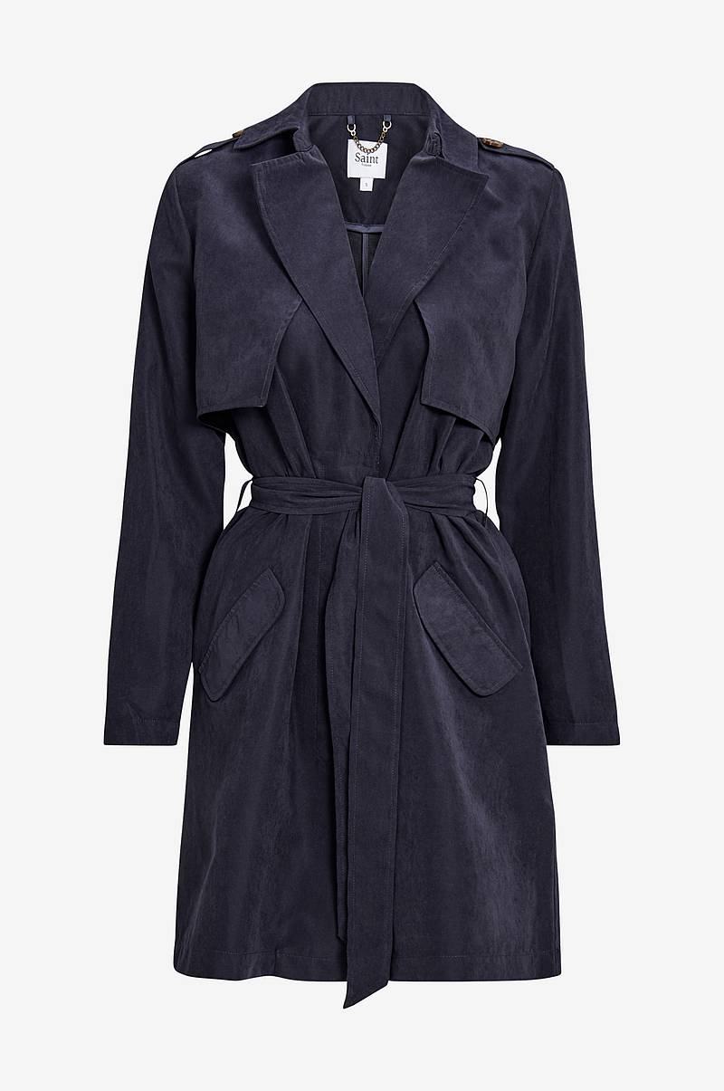 Trenchcoat med fint fall