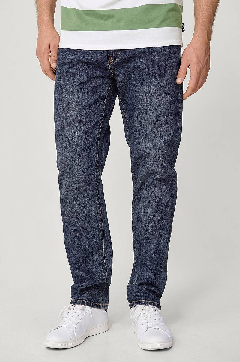 Jeans, loose fit med stretch