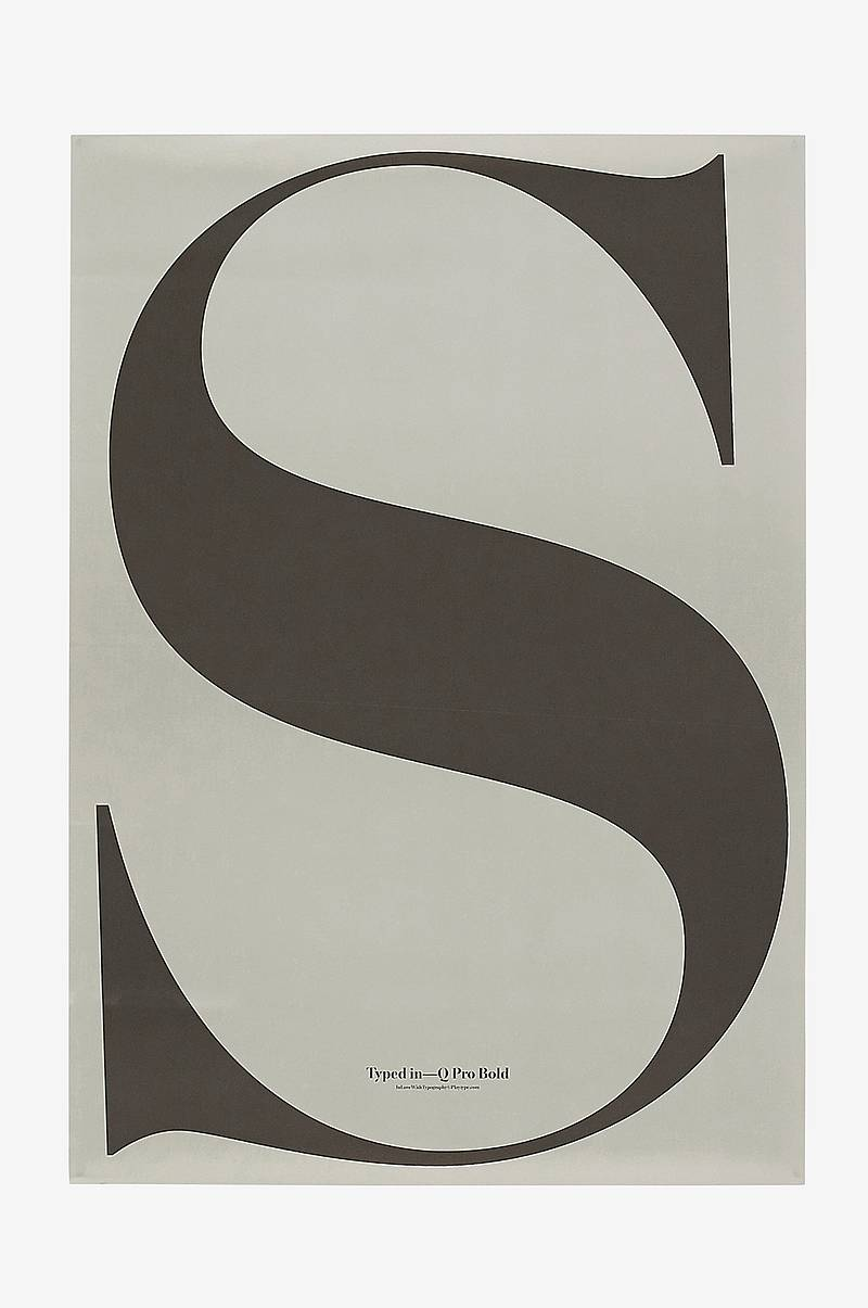 Poster S - In Love with Typo 5 70x100 cm
