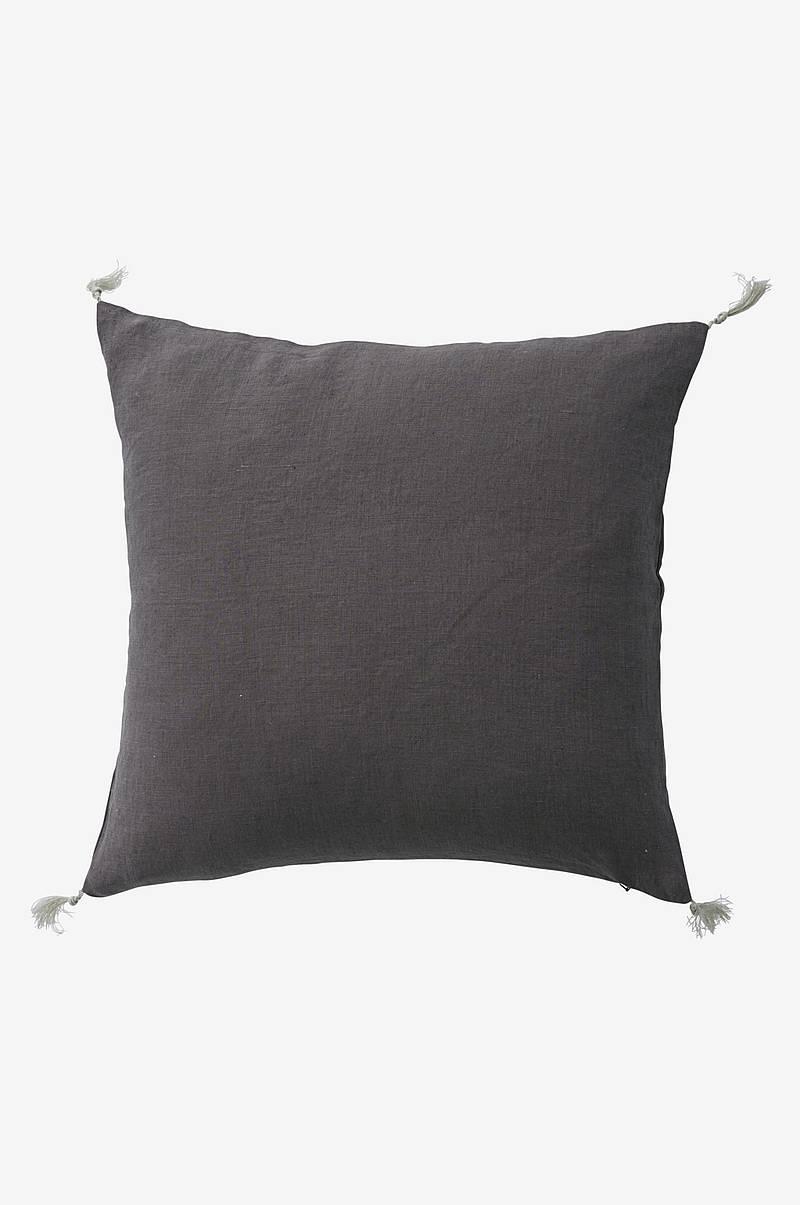 Kuddfodral Candice Tassel i tvättat lin 50x50 cm
