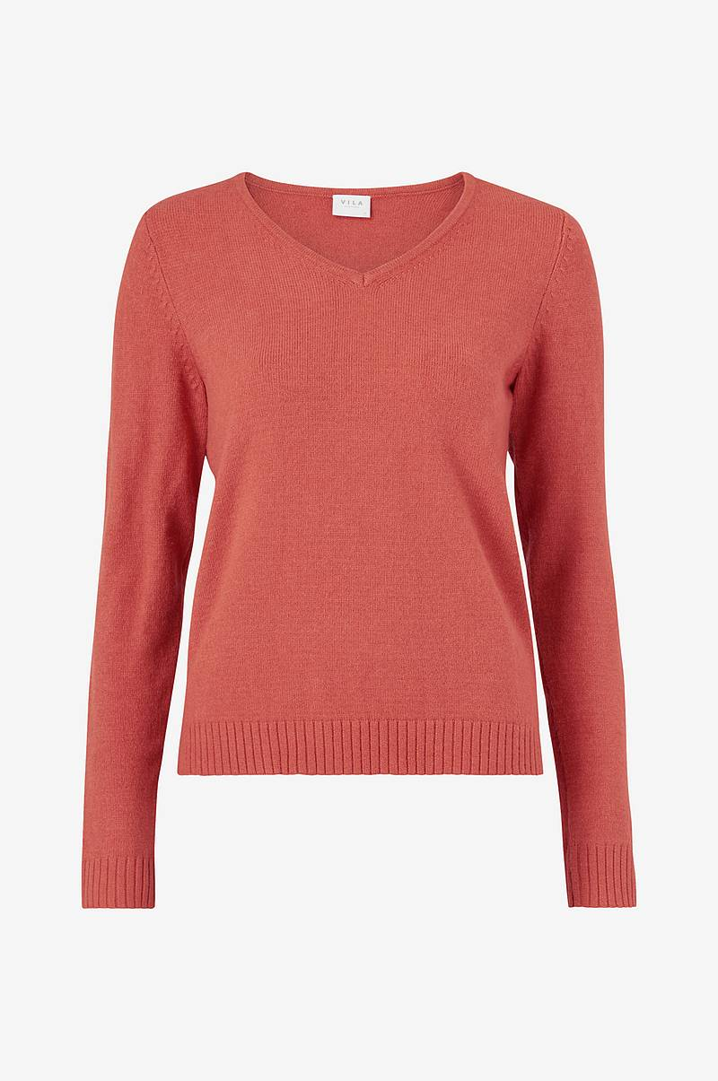 Trøje viRil V-neck Knit Top