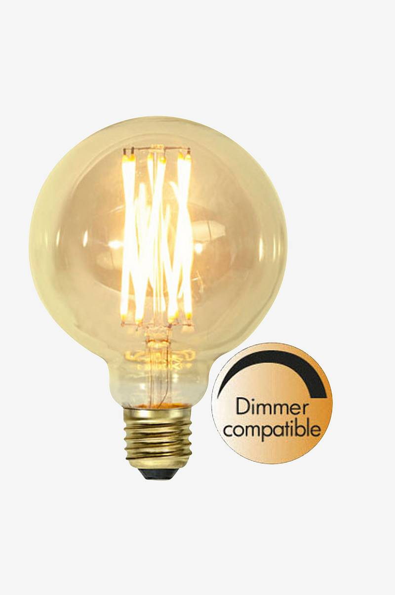 LED-lampa E27 G95 Vintage Gold