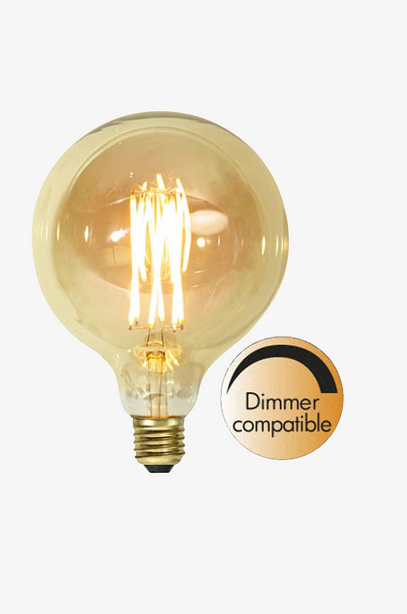 LED-lampa E27 G125 Vintage Gold