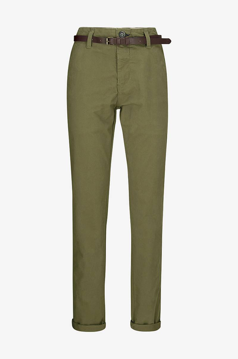 Chinos Chino Pants Belt Stretch Twill