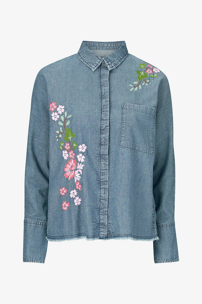Denim Embro Blouse paita