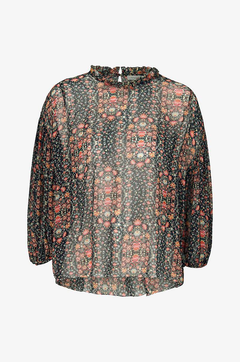 Blus Floral Pleat Blouse