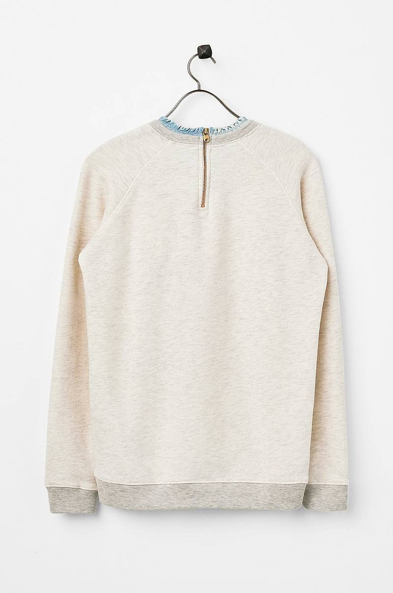 Sweatshirt Denim Collar