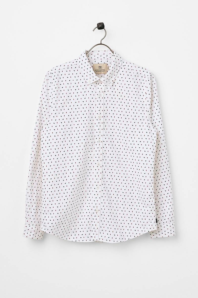 Skjorte Mini-Printed Shirt, slim fit