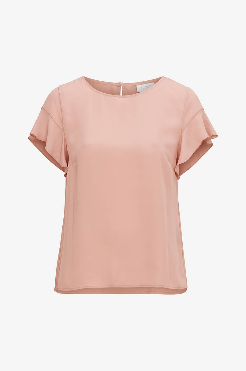 Topp viLucy S/S Flounce Top