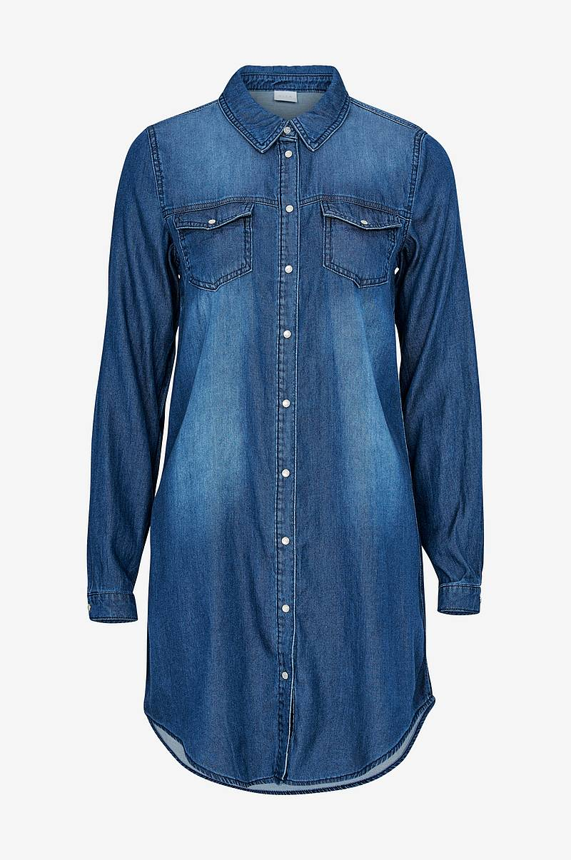 Jeanskjole viBista Denim Dress