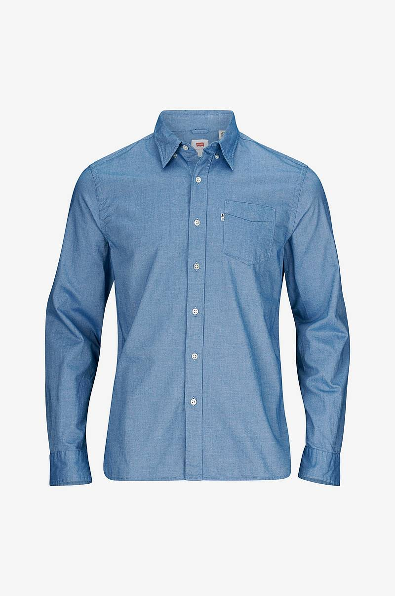 Denimskjorta Sunset 1 Pocket Shirt True Blue