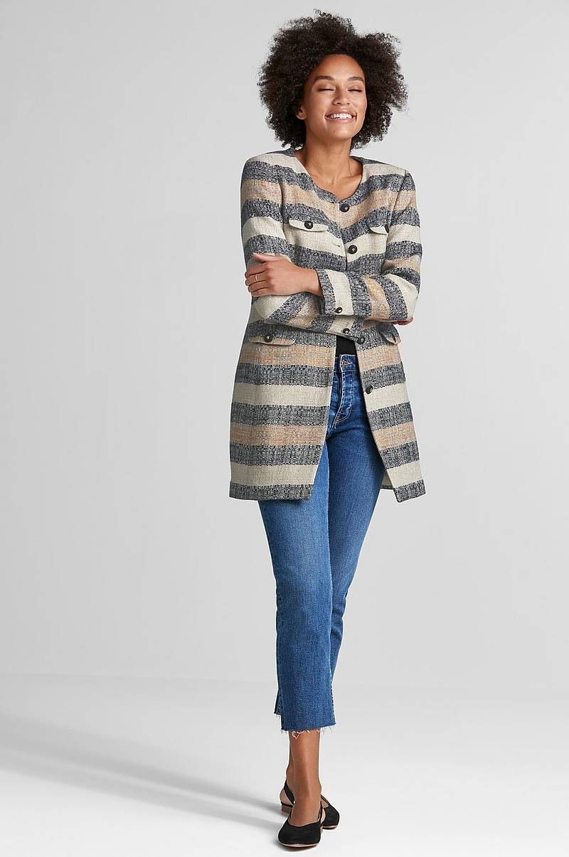Frakke Audrey Stripe Coat
