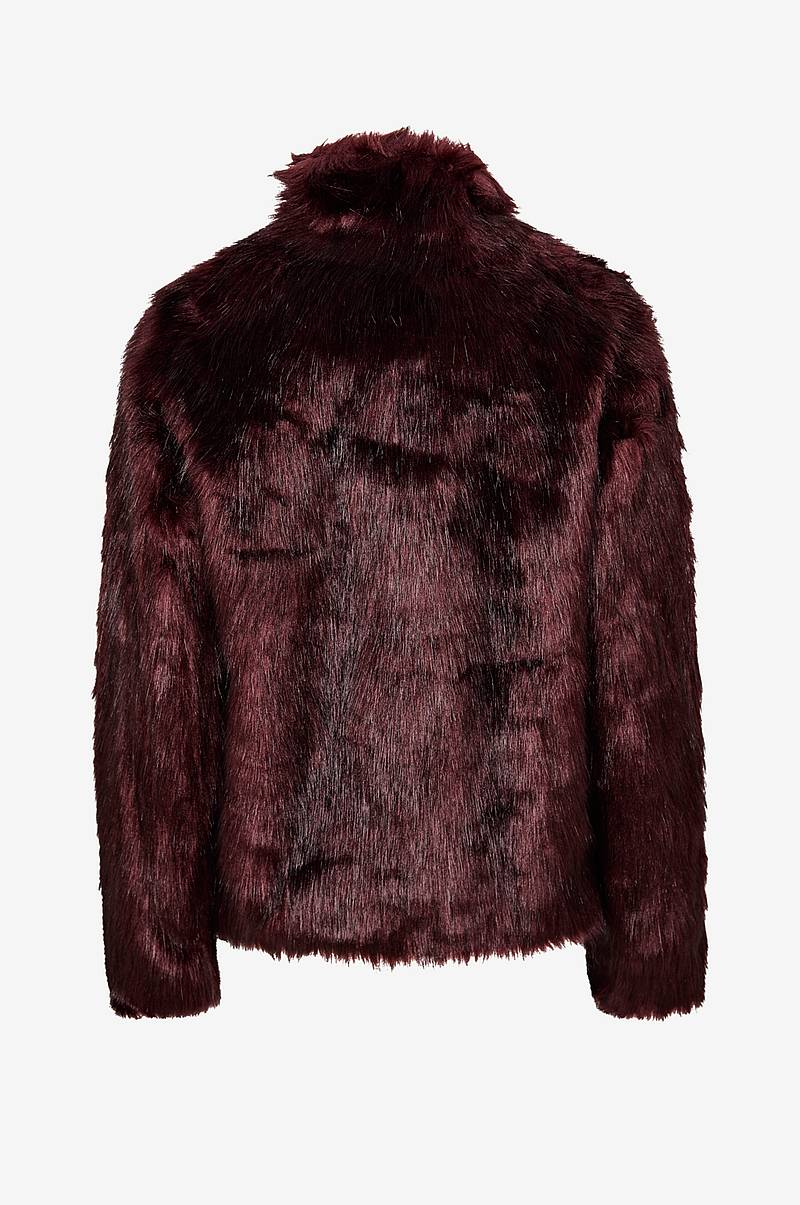 Fuskepels Long Hair Faux Fur Jacket