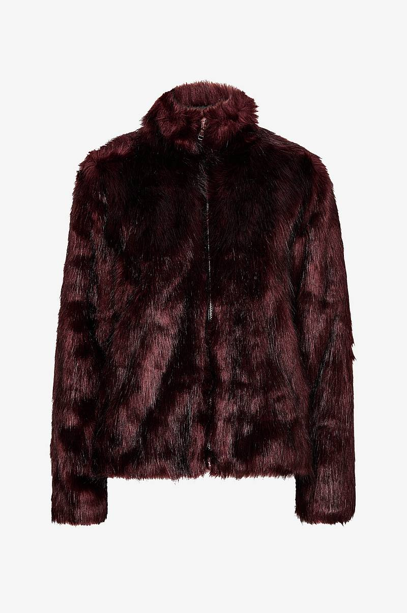 Kunstpels Long Hair Faux Fur Jacket