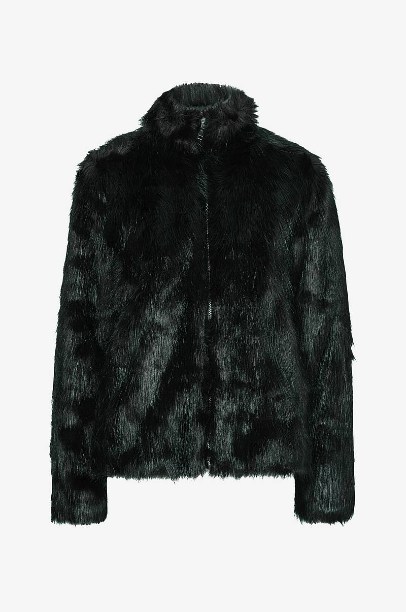 Fuskpäls Long Hair Faux Fur Jacket