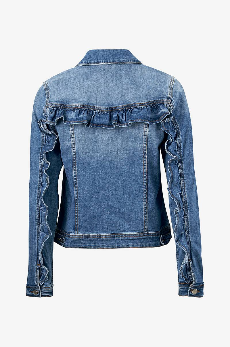 Denimjakke viLucca Ruffle Denim Jacket