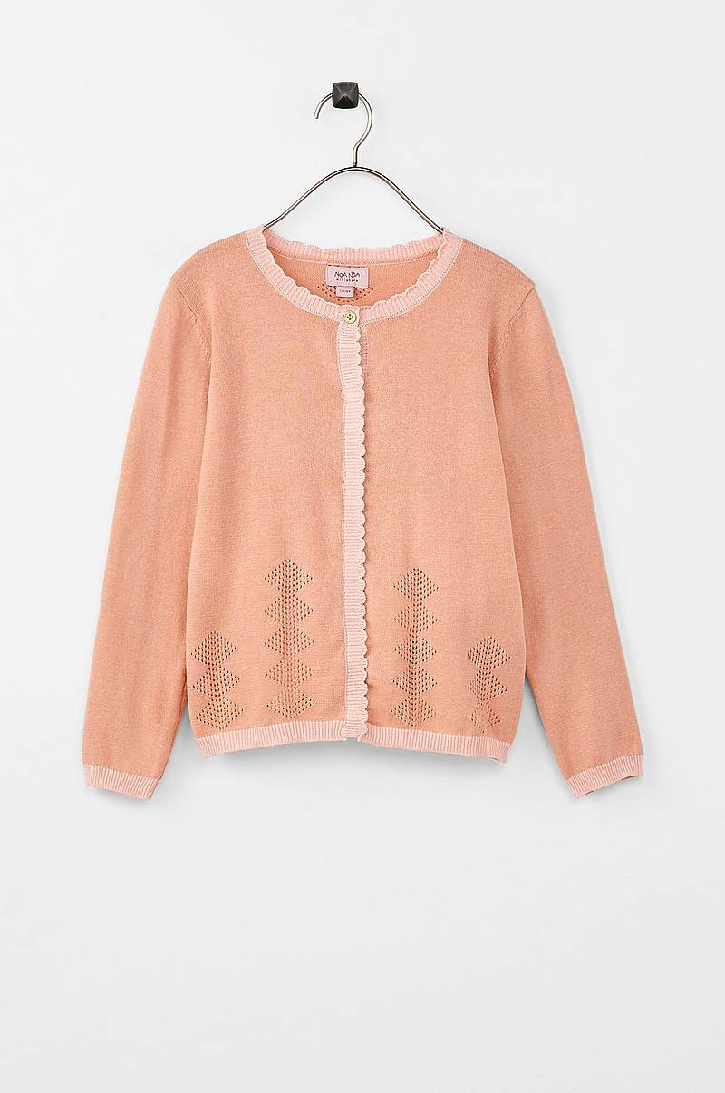 Cardigan Mini Basic Cotton Melange