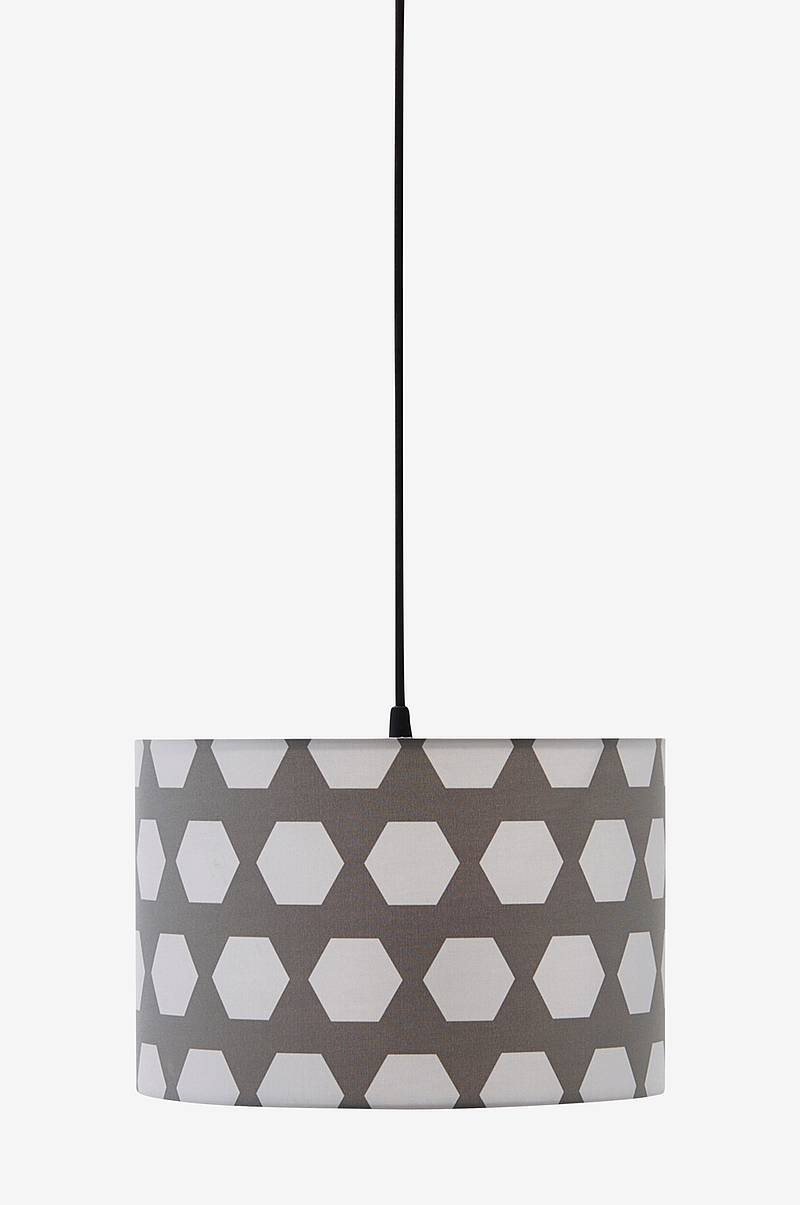 Loftlampe Hexagon Grå