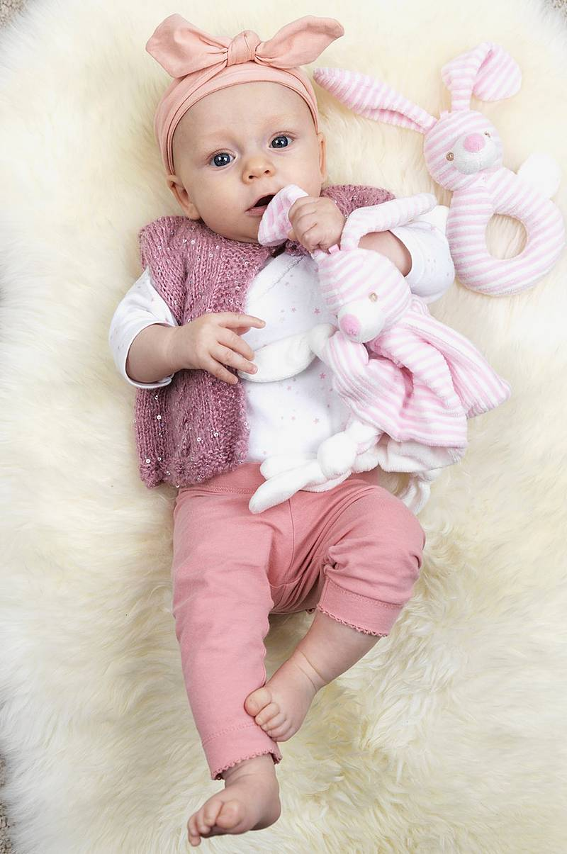 Snuttefilt Cotton Cuties Kanin Rosa