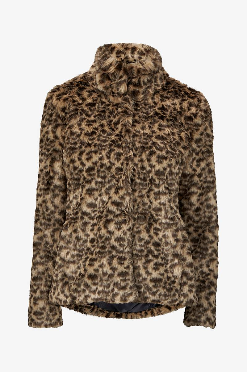 a5f481e9 Fuskepels Faux Fur Leopard Jacket