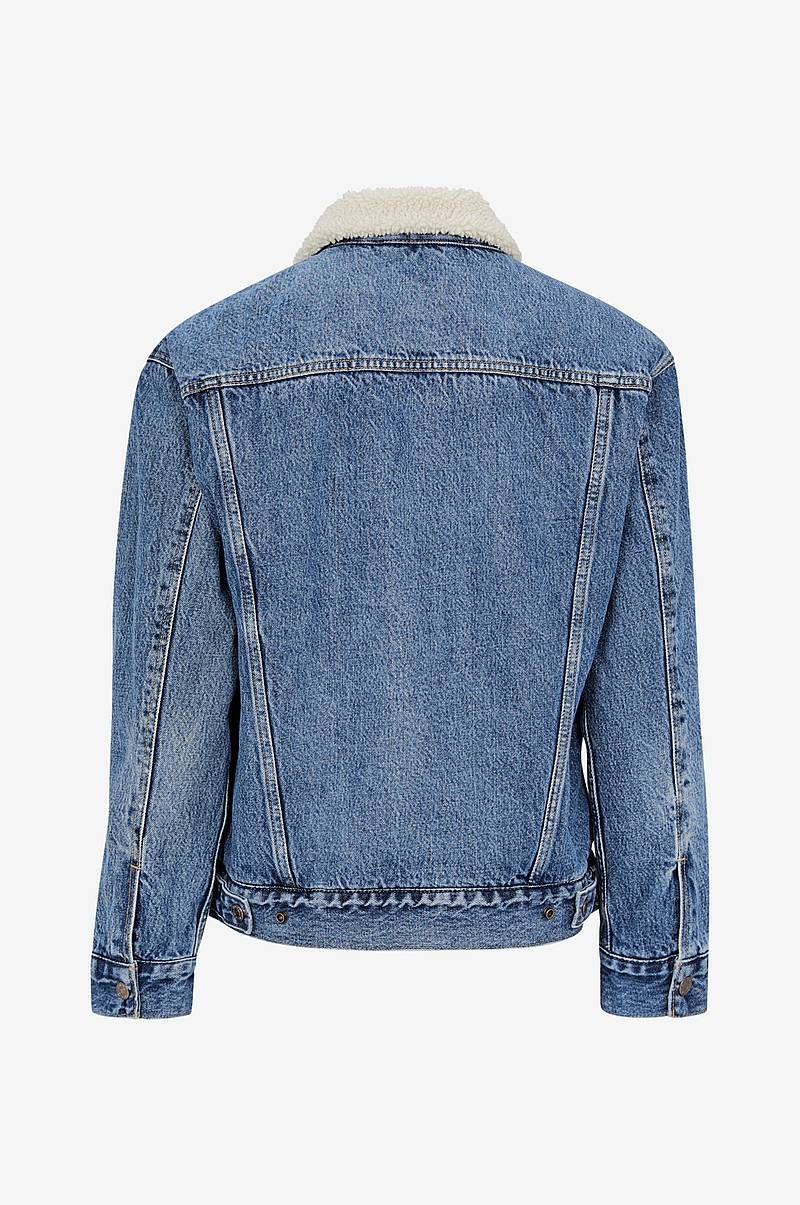 Zizzi Jeansjacka MAccalia LS Jacket Blå Jeansjackor