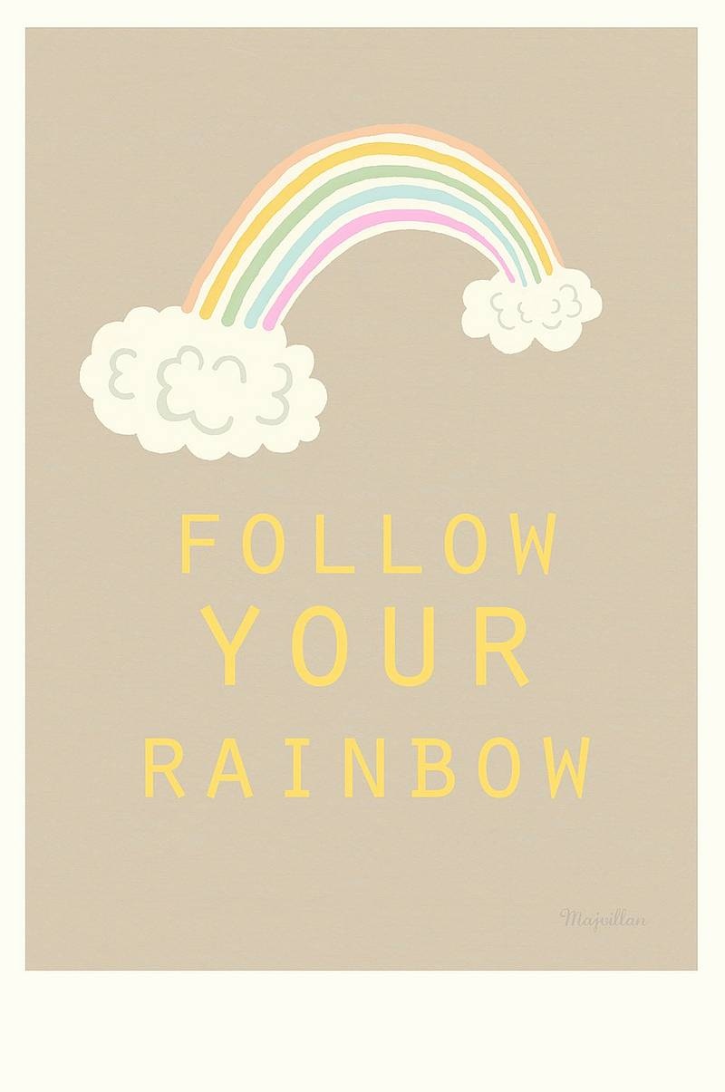Poster Follow your Rainbow A4