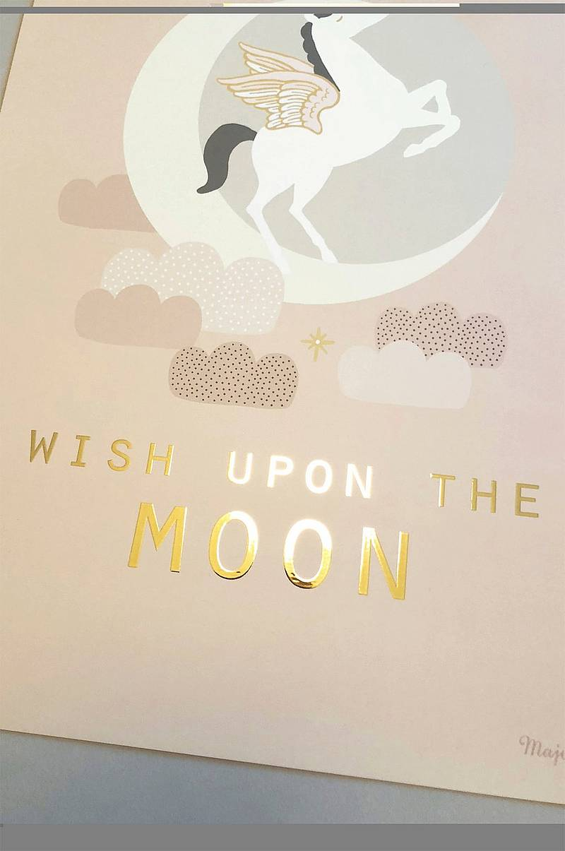 Poster Wish upon the moon 30x40 cm