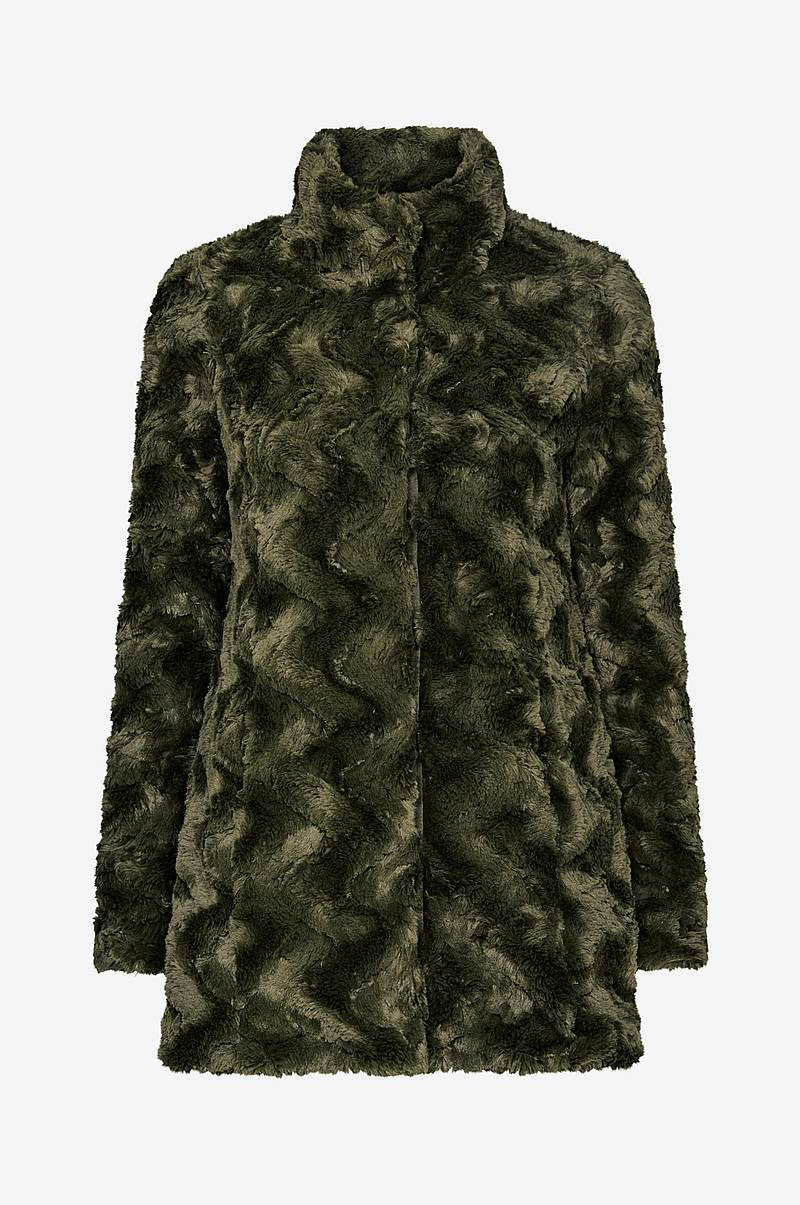 Syntetpels vmCurl High Neck Faux Fur Jacket