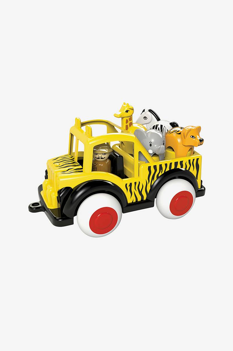 Safari Jeep m 1 figur & 4 djur