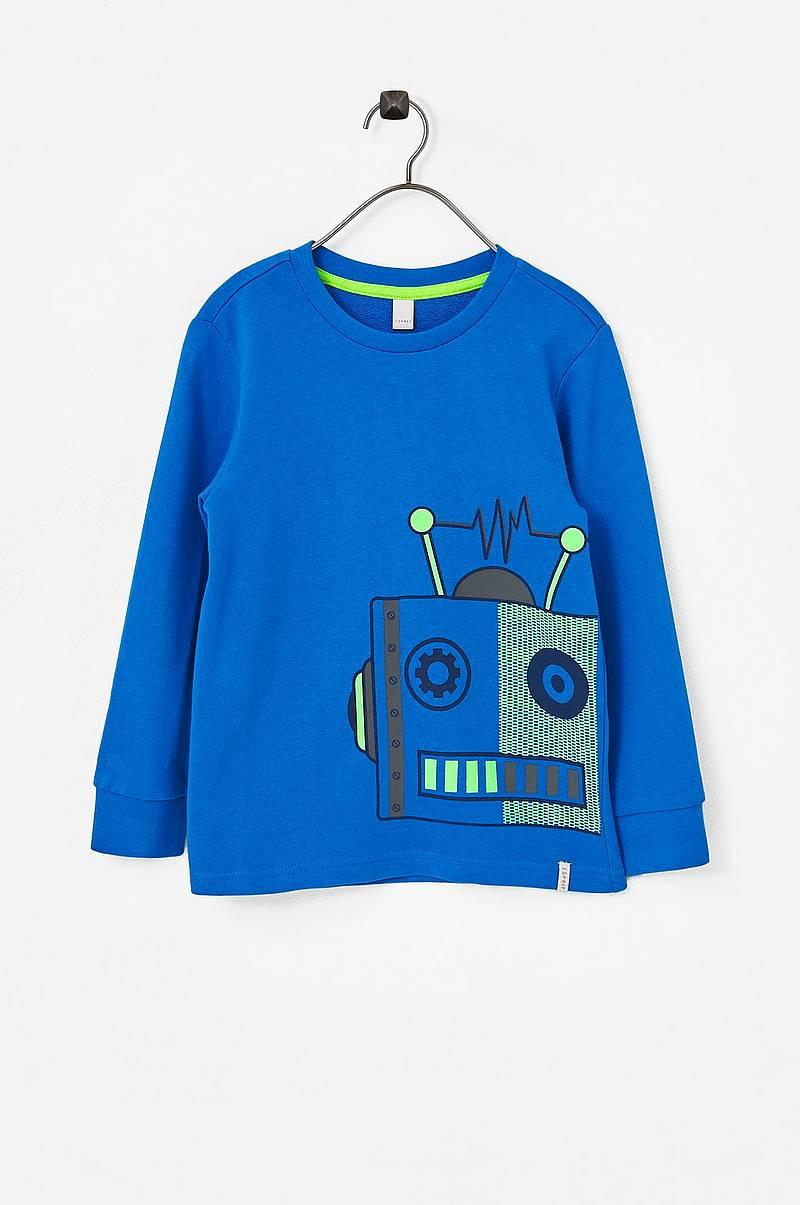 Sweatshirt med robottryck 4ee980d2e5392