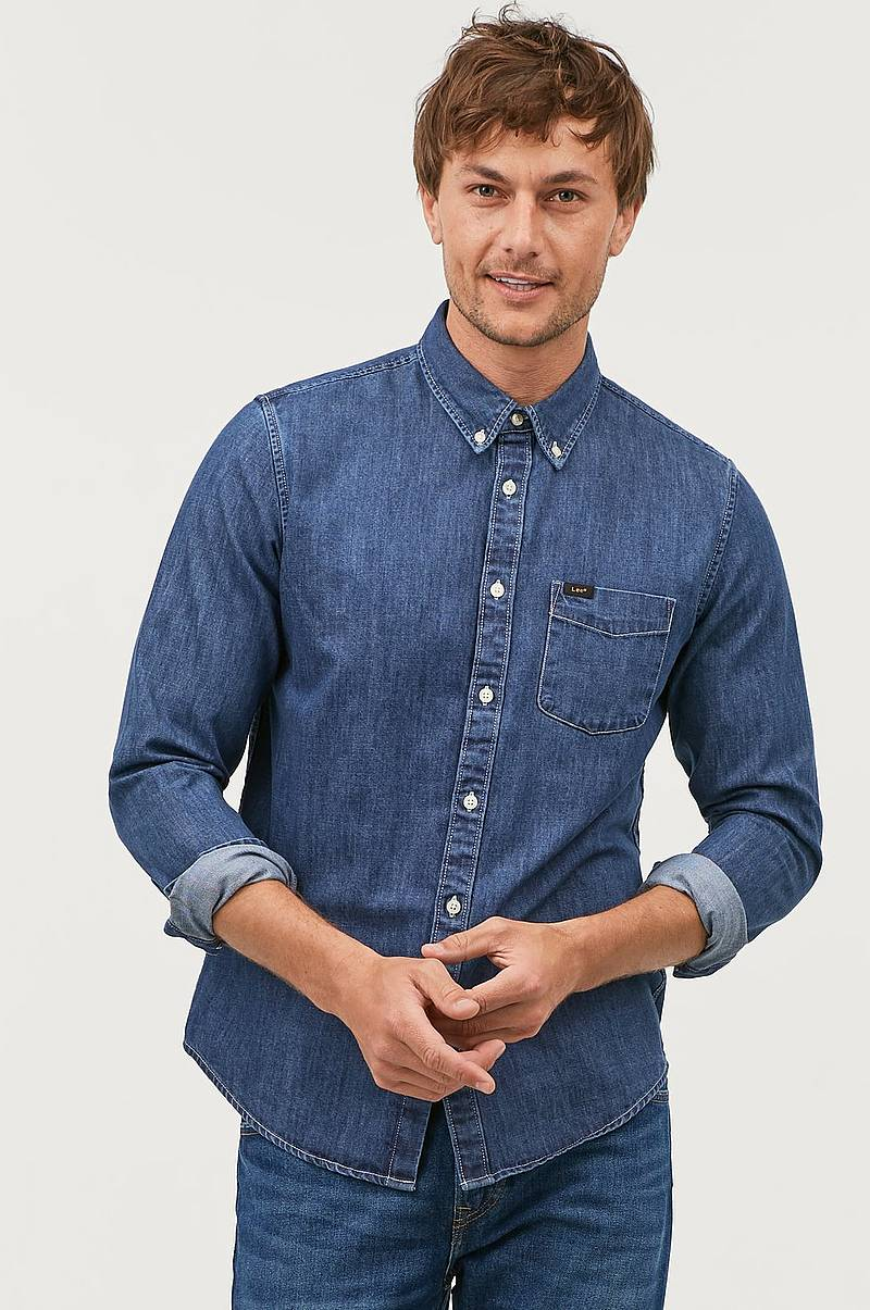 Denimskjorte Button Down Dipped Blue