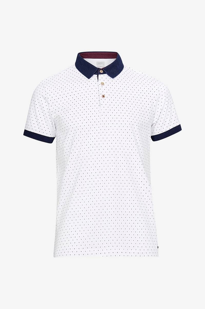 T-shirt med krave og knapper, slim fit