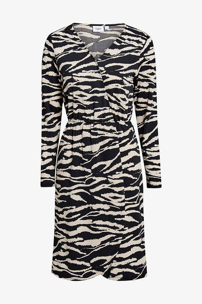 Tiger Jersey Wrap Dress mekko