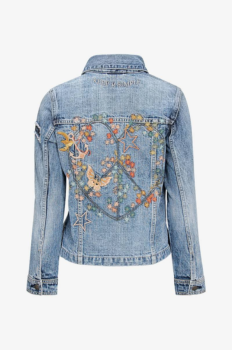 Jeansjakke Peace Player Denim Jacket