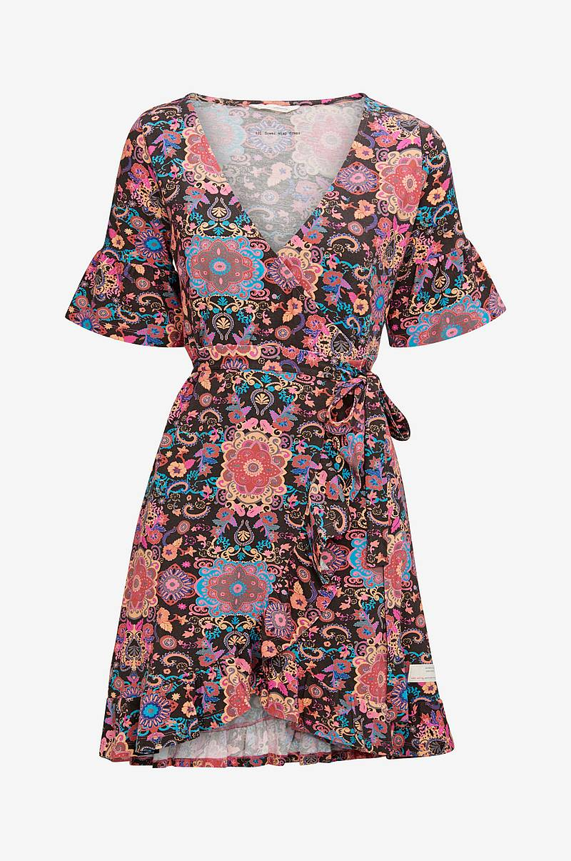 Slå om-kjole Flower Wrap Dress