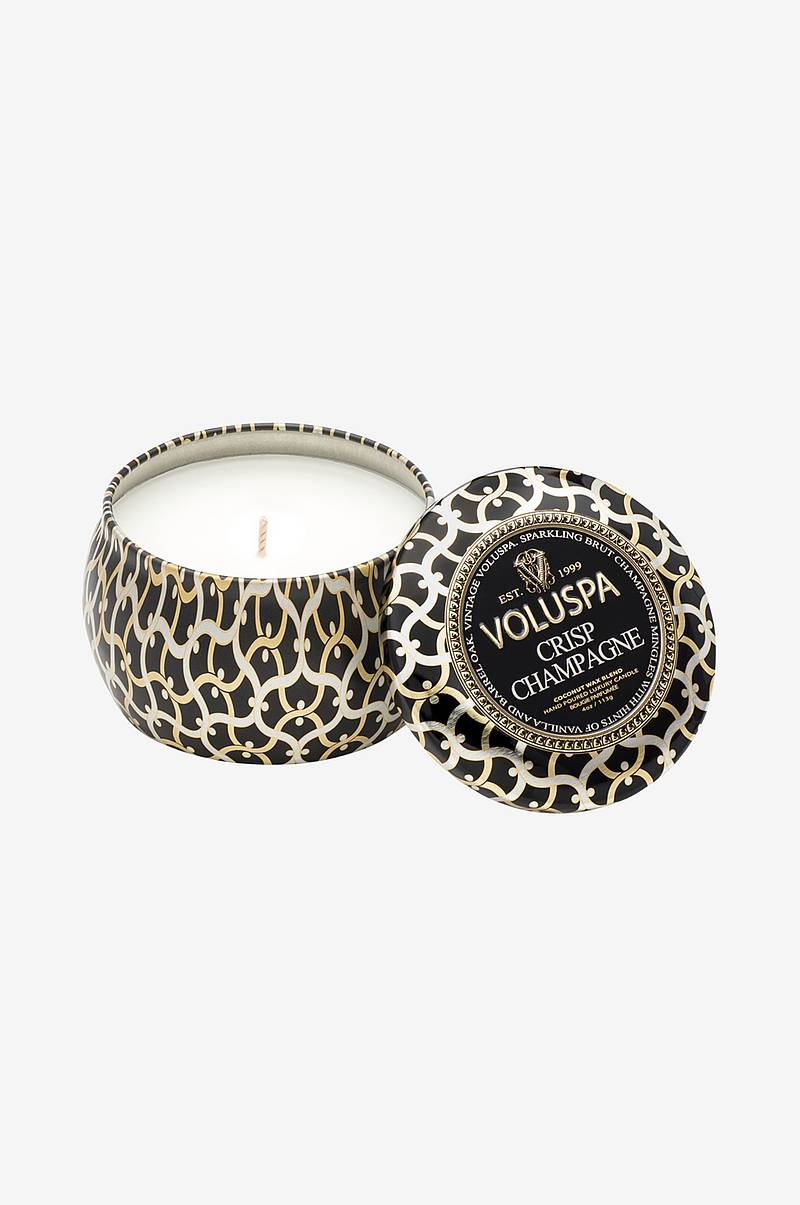 Crisp Champagne - Decorative Tin Candle 25 h